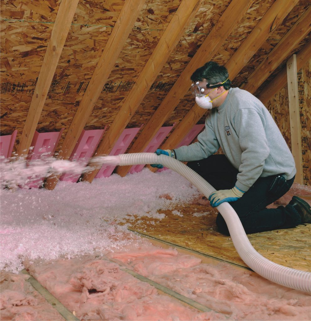 attic insulation application