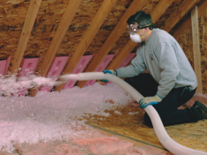 insulation blowing process