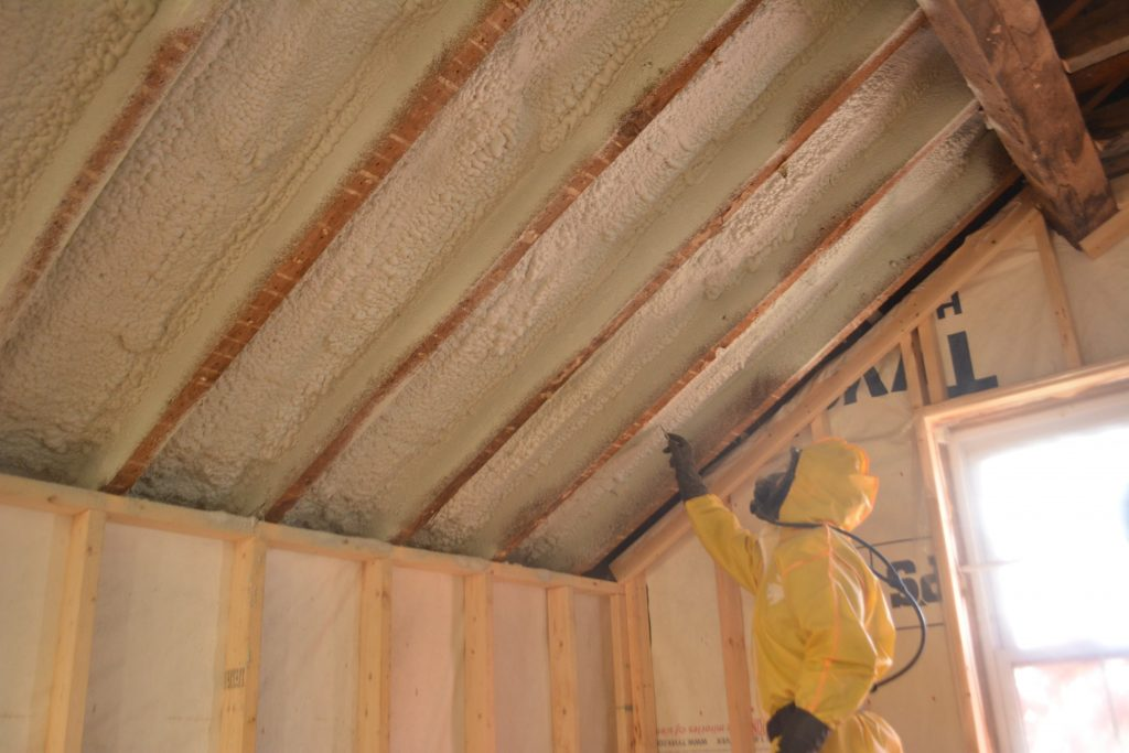 spray foam application in Barrie