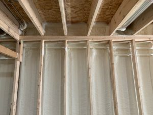 Finished spray foam insulation in Cambridge
