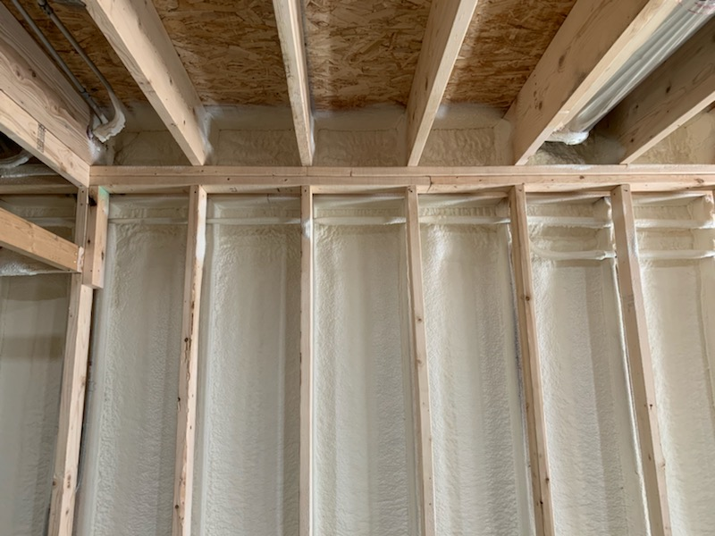 Finished spray foam insulation in Cambridge
