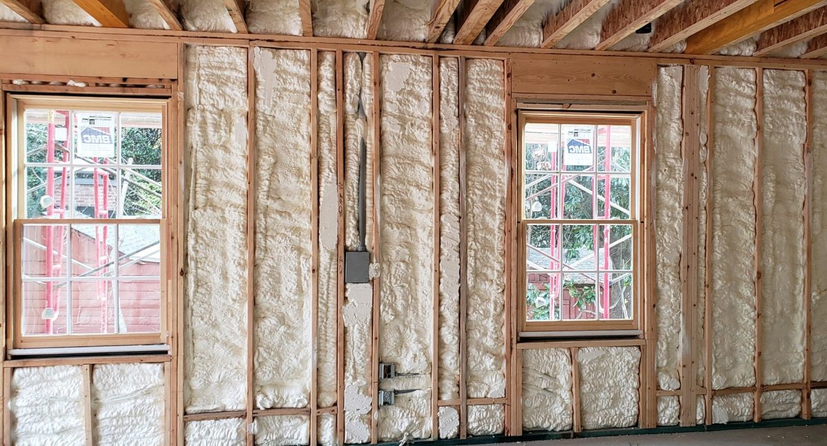 Spray foam insulation finished job Owen Sound