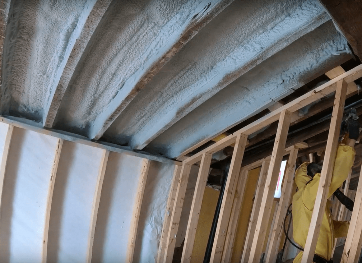 spray foam insulation application Orillia